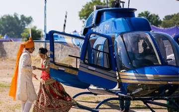 Book Helicopter for Wedding in Rajasthan is Really Easy