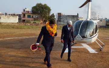 Groom Came by Helicopter for Bride Vidai in Gangapur City